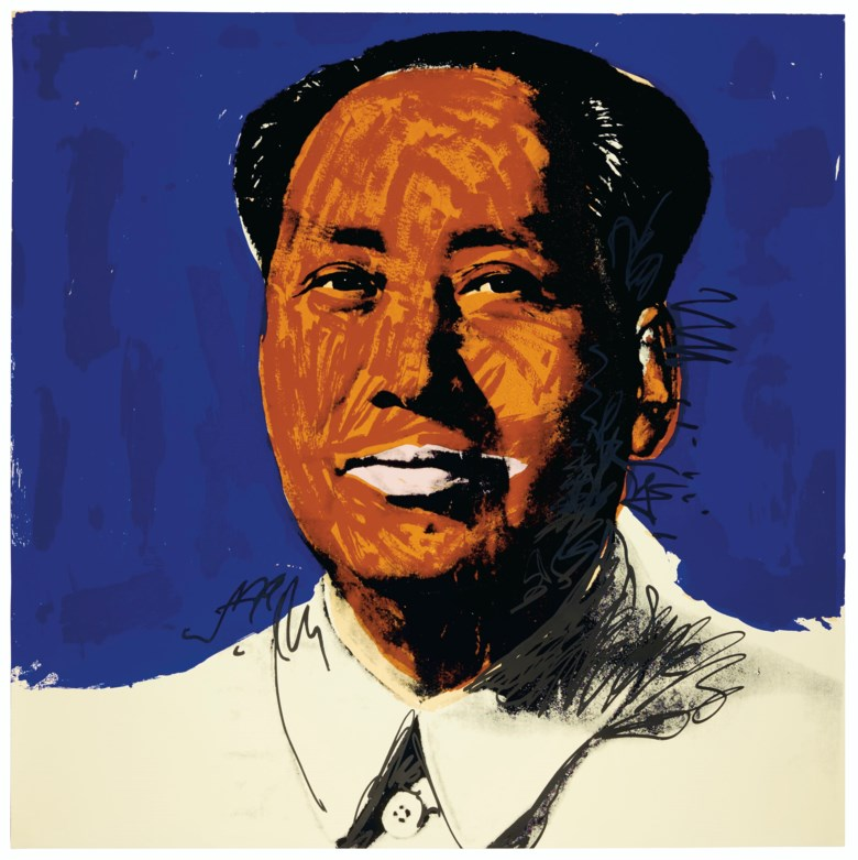 Andy Warhol (1928-1987), Mao one print, 1972. Screenprint in colours on on Beckett High White paper. Sheet 36 x 36  in (91.4 x 91.4  cm). Sold for $37,500 on 4 March 2020 at Christie's in New York