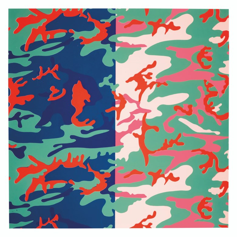Andy Warhol (1928-1987), Camouflage. Screenprint in colours on Lenox Museum Board. Sheet 37⅞ x 38  in (963 x 965  mm). Estimate $20,000-30,000. Offered in Contemporary Edition on 4 March 2020 at Christie's in New York