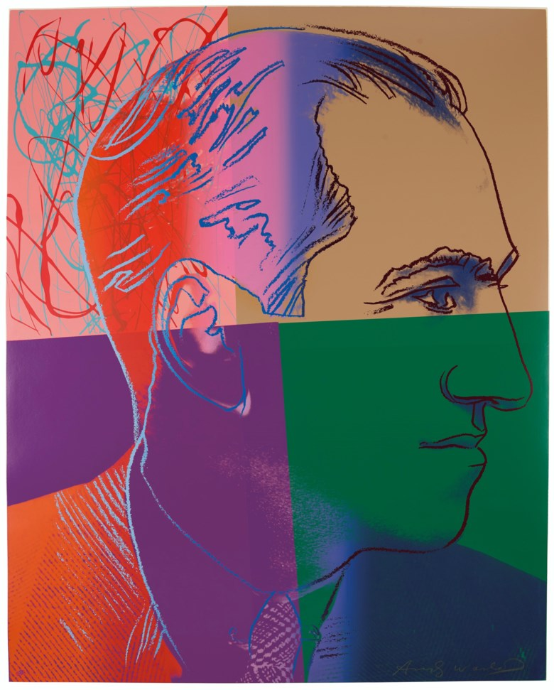 Andy Warhol (1928-1987), George Gershwin, from Ten Portraits of Jews of the Twentieth Century, 1980. Screenprint in colours on Lenox Museum Board. Sheet 39⅞ x 31⅞ in (1013 x 784 mm). Sold for $27,500 on 4 March 2020 at Christie's in New York