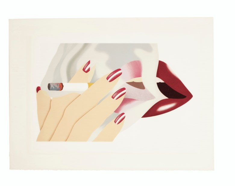 Tom Wesselmann (1931-2004), Smoker, 1976. Lithograph in colours with embossing, on Arches paper. Sheet 22 x 29⅞ in (559 x 759 mm). Estimate $3,000-5,000. Offered in Contemporary Edition on 4 March 2020 at Christie's in New York