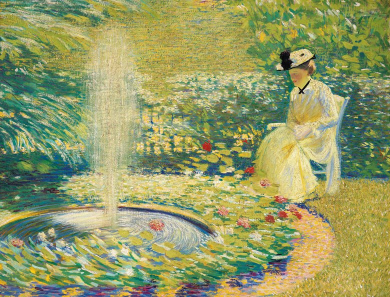 Philip Leslie Hale (1865-1931), Light and Shade (Mrs. Hale in the Garden). Oil on canvas. 27¼ x 35½ in (69.2 x 90.2 cm). Estimate $70,000-100,000. Offered in American Art Online, 23 July to 7 August 2020, online