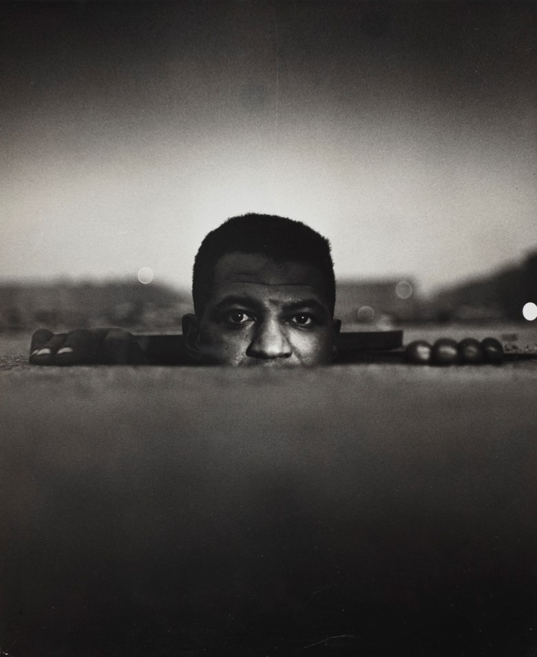 Gordon Parks (1912-2006), Emerging Man, Harlem, New York (from Invisible Man), 1952. Imagesheet 12⅝ x 10⅞ in (32 x 27.6 cm). Estimate $10,000-15,000. Offered in Photographs, 19 May-3 June 2020, Online