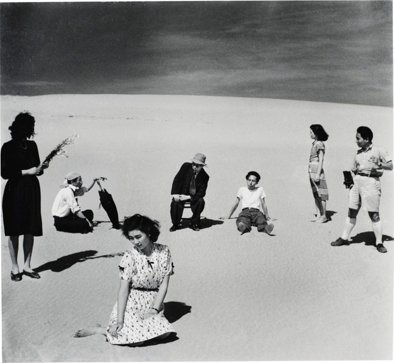 Shoji Ueda (b. 1913), Ken Domon and Models, from Dunes, 1949. Sheet 14 x 11  in (35.5 x 27.9  cm). Estimate $5,000-7,000. Offered in Photographs on 31 March 2020 at Christie's in New York