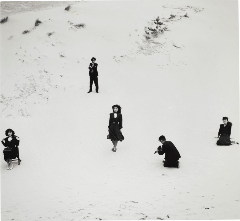 Shoji Ueda (b. 1913), Models and Artistic Photographers, 1949. Sheet 14 x 11  in (35.5 x 27.9  cm). Estimate $5,000-7,000. Offered in Photographs on 31 March 2020 at Christie's in New York