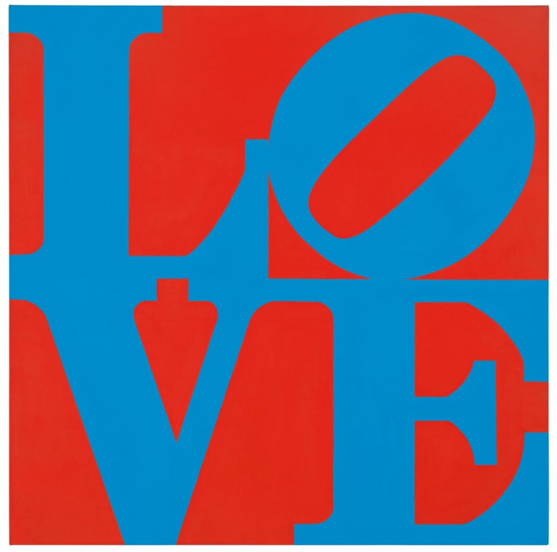Robert Indiana (1928-2018), Love, 1967. 36 x 36  in (91.4 x 91.4  cm). Oil on canvas. Estimate $1,000,000-1,500,000. Offered in Post-War to Present on 5 March 2020 at Christie's in New York