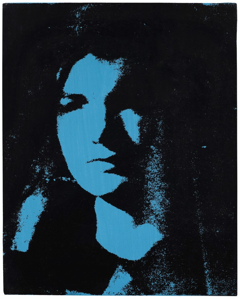 Andy Warhol (1928–1987), Jackie, 1964. Acrylic and silkscreen ink on canvas. 20 x 16  in (50.8 x 40.6  cm). Estimate $600,000-800,000. Offered in Post-War to Present on 5 March 2020 at Christie's in New York. © 2020 The Andy Warhol Foundation for the Visual Arts, Inc.  Licensed by Artists Rights Society (ARS), New York