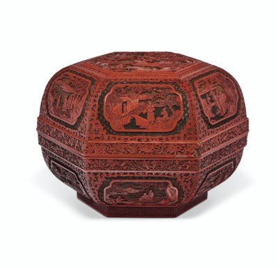A FINELY CARVED HEXAGONAL THRE