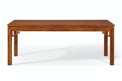 A LARGE HUANGHUALI CORNER-LEG