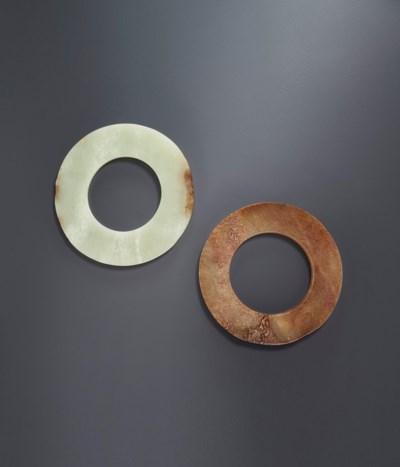 TWO JADE RINGS