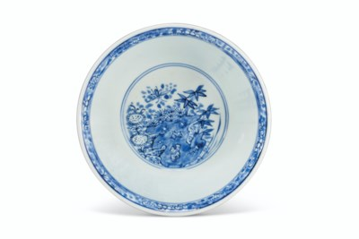 A FINELY DECORATED BLUE AND WH