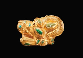 A SARMATIAN GOLD AND TURQUOISE