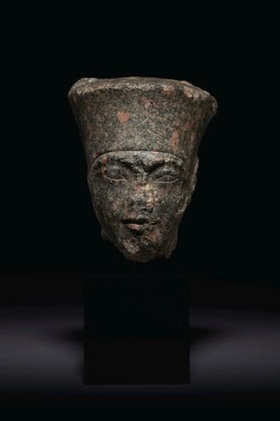AN EGYPTIAN GRANODIORITE HEAD