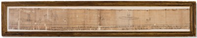 AN EGYPTIAN PAPYRUS SCROLL FRO
