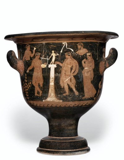 A CAMPANIAN RED-FIGURED BELL-K