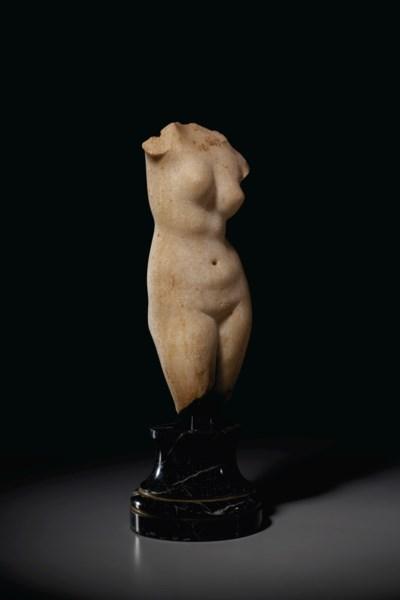 A ROMAN MARBLE TORSO OF VENUS