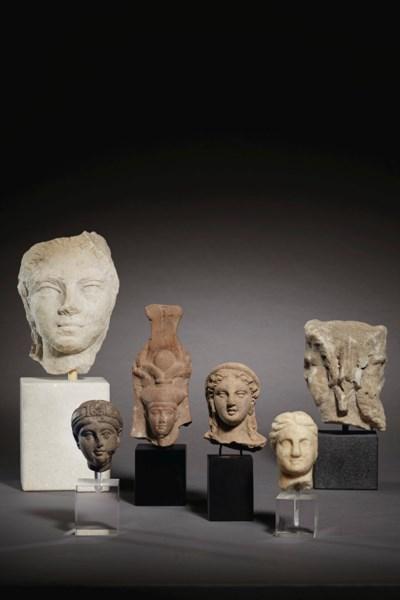 SIX EGYPTIAN AND ROMAN TERRACO