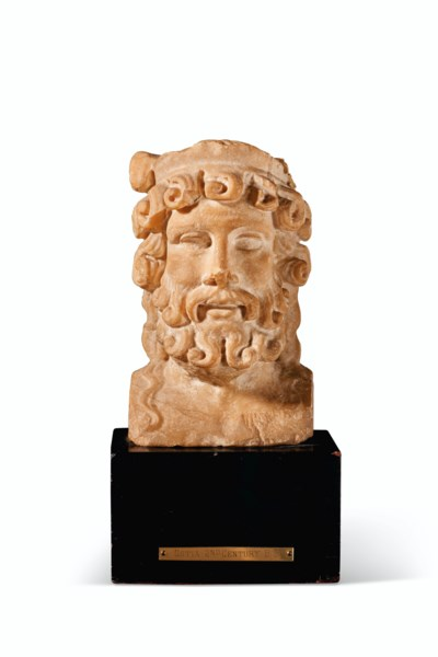 A ROMAN MARBLE HERM HEAD OF BA