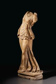 A ROMAN MARBLE DANCING MAENAD