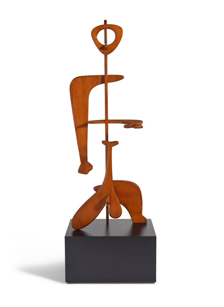 Isamu Noguchi (1904-1988), Man, 1945. 52⅛ x 20¼ x 13 in (132.4 x 51.4 x 33 cm). Estimate $3,000,000-5,000,000. Offered in 20th Century Hong Kong to New York on 2 December 2020 at Christie's in New York