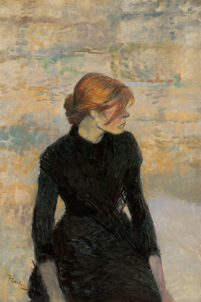 Henri de Toulouse-Lautrec (1864-1901), Pierreuse, 1889. Oil on canvas. 28¼ x 19⅛  in (71.7 x 48.5  cm). Sold for $9,062,000 on 2 December 2020 at Christie's in New York