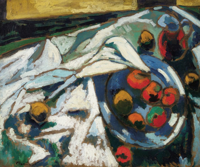 Maurice de Vlaminck (1876-1958), Nature morte au compotier, 1906-1907. Oil on canvas. 21⅝ x 26  in (54.9 x 66  cm). Sold for $687,500 on 8 October 2020 at Christie's in New York. Artwork © Maurice de Vlaminck  DACS 2020
