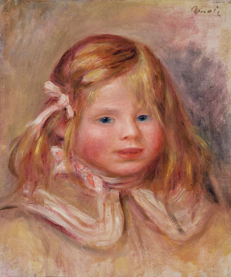 Pierre-Auguste Renoir (1841-1919), Coco au ruban rose, 1905. Oil on canvas. 12¼ x 10¼ in (31 x 26 cm). Estimate $400,000-600,000. Offered in Impressionist & Modern Art Day Sale on 8 October 2020 at Christie's in New York