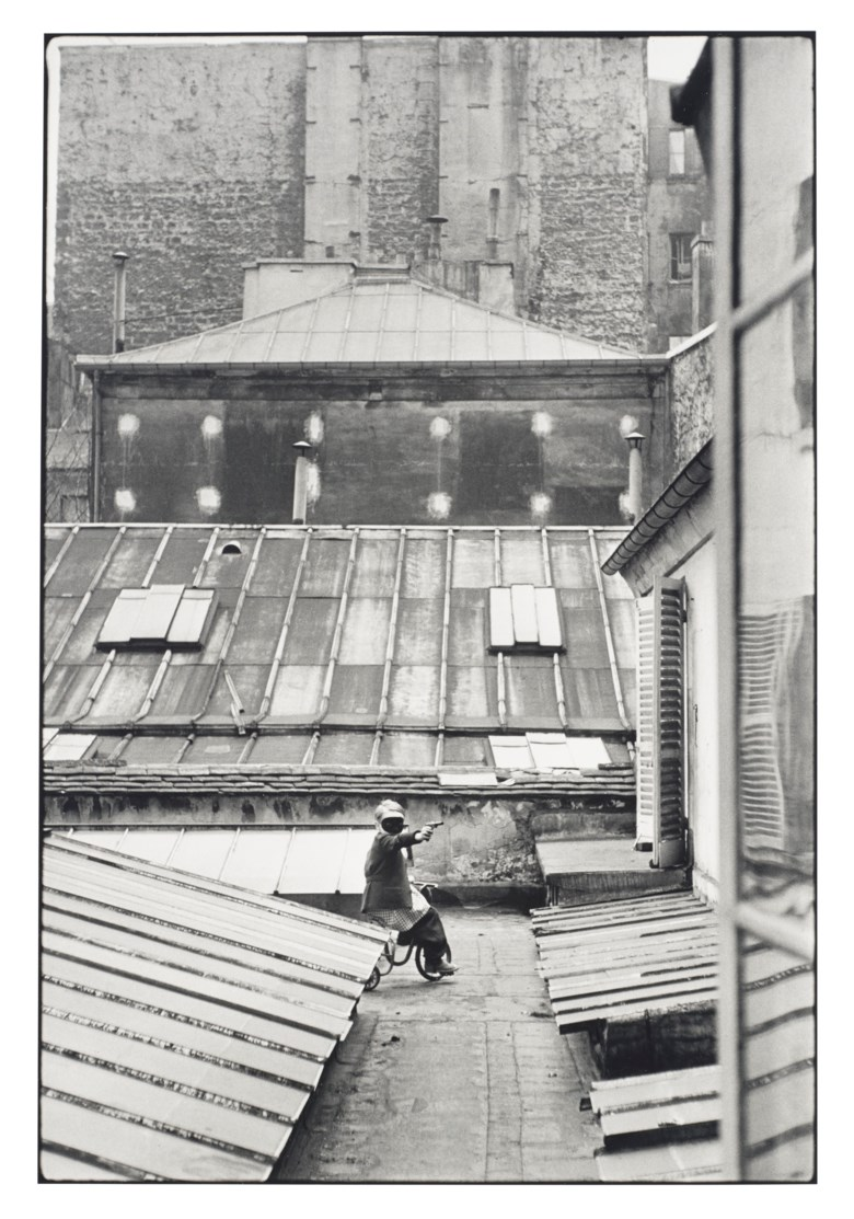 Henri Cartier–Bresson (1908–2004), Hotel Courtyard, rue de la Boetie, Paris, 1953. Gelatin silver print, printed later. Sheet 15¾ x 11⅞ in (40 x 30.2 cm). Estimate $5,000-7,000. Offered in  Photographs, 21-30 September 2020, Online