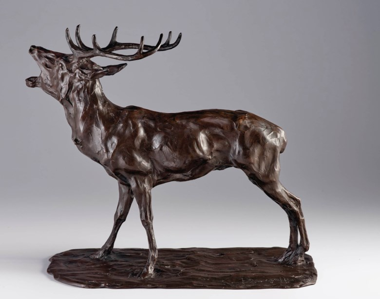 Rembrandt Bugatti (1884-1916), Cerf bramant, conceived circa 1905 and cast by 1910. Length 19 in (48.3 cm). Estimate $200,000-300,000. Offered in La Ménagerie on 4 December 2020 at Christie's in New York