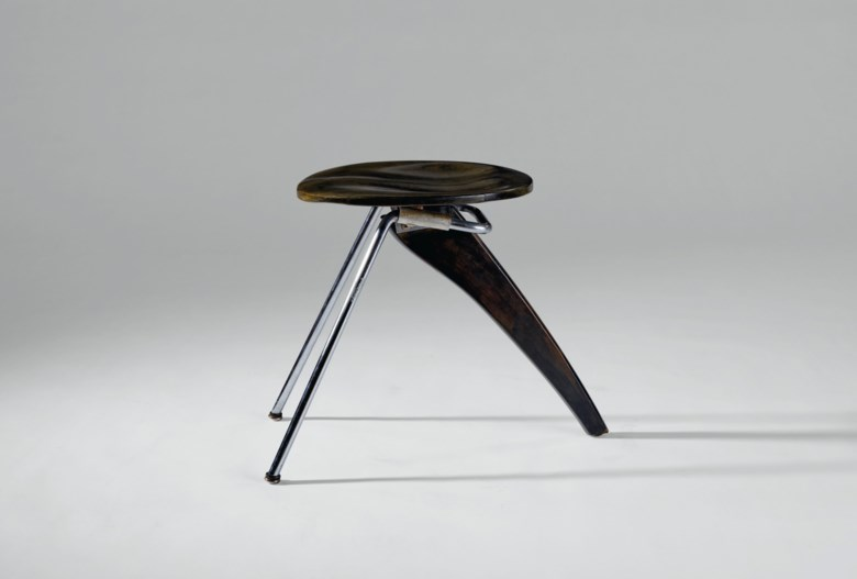 Isamu Noguchi (1904-1988), rare 'Rudder' stool, model no. in-22, circa 1950. 16¾  in (42.5 cm) high; 14  in (35.5 cm) wide; 22  in (55.8 cm) deep. Estimate $15,000-20,000. Offered in Design on 11 December 2020 at Christie's in New York