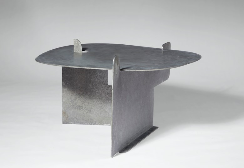 Isamu Noguchi (1904-1988), 'Pierced Table', 1982. 21⅞  in (55.2 cm) high; 37  in (94 cm) wide; 35 ¾  in (90.3 cm) deep. Sold for $81,250 in Design on 11 December 2020 at Christie's in New York