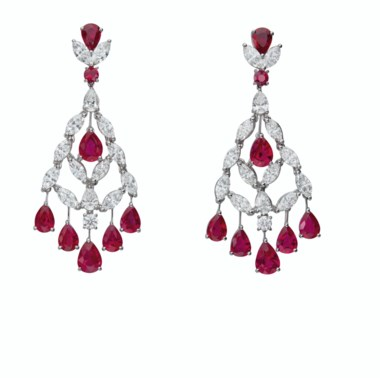 Ruby and diamond earrings, Graff. Sold for $37,500 in Magnificent Jewels on 29 July 2020 at Christie's in New York