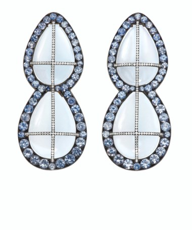 Moonstone, sapphire and diamond earrings, JAR. Estimate $150,000-250,000. Offered in Magnificent Jewels on 29 July 2020 at Christie's in New York