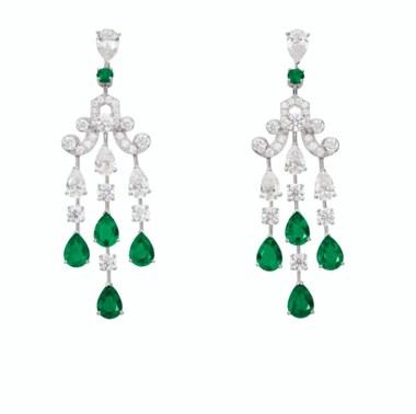 Emerald and diamond earrings, Graff. Sold for $43,750 in Magnificent Jewels on 29 July 2020 at Christie's in New York