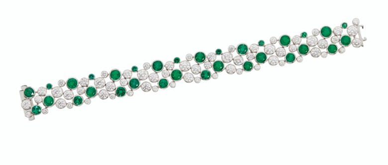 Emerald and diamond bracelet, Graff. Sold for $60,000 in Magnificent Jewels on 29 July 2020 at Christie's in New York