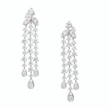 Diamond 'Rhythm' earrings, Graff. Sold for $30,000 in Magnificent Jewels on 29 July 2020 at Christie's in New York