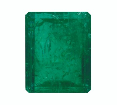 TWO UNMOUNTED EMERALDS