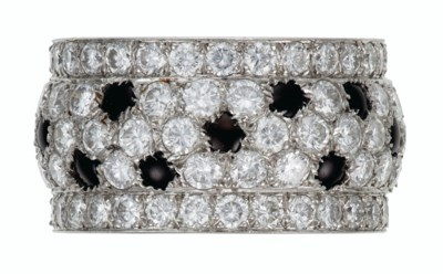 DIAMOND AND ONYX 'PANTHÈRE' RI