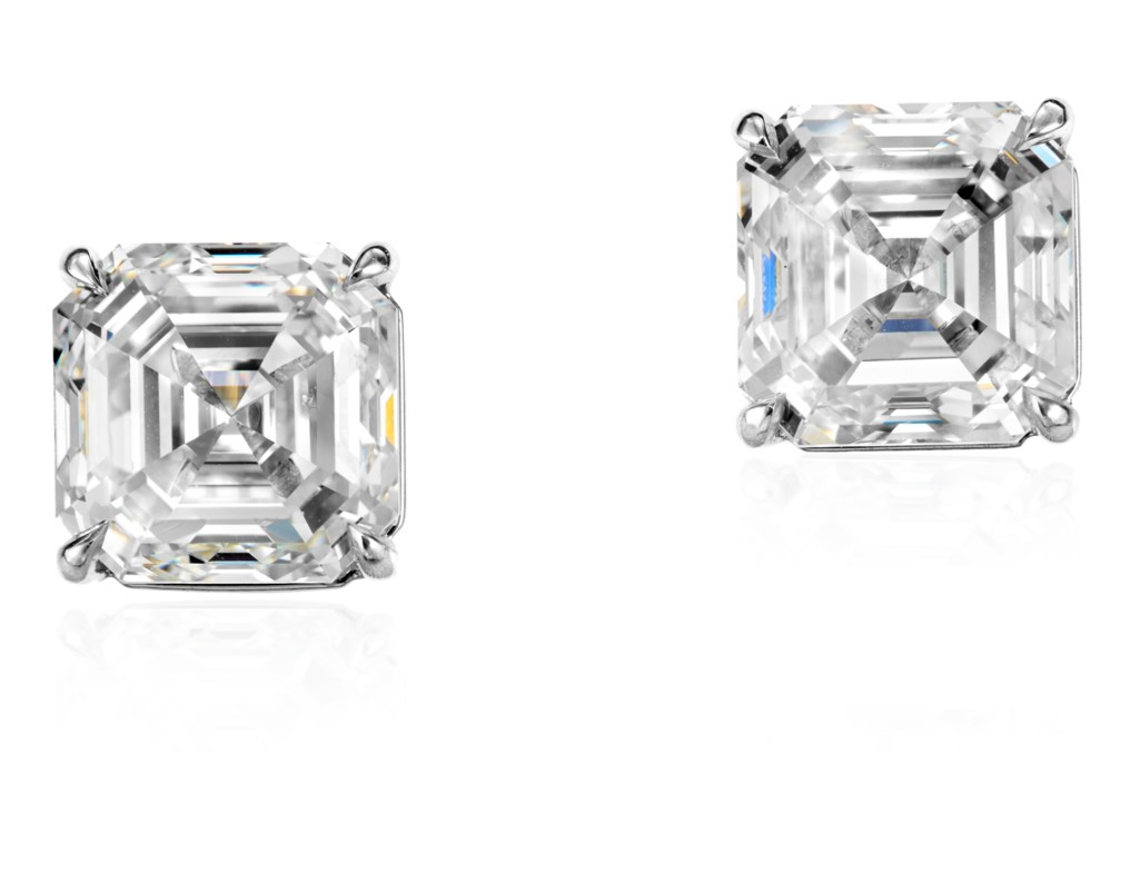 DIAMOND STUD EARRINGS WITH GIA REPORTS