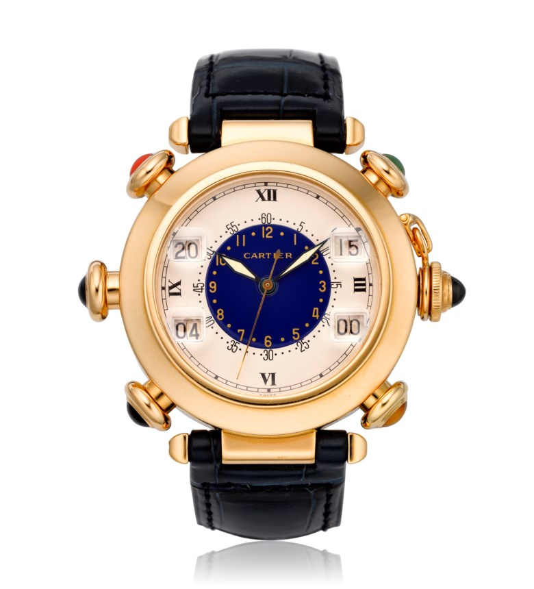 Cartier, Pasha Golf, 18k gold, ref. 30010. Diameter: 38mm. Estimate: $12,000-18,000. Offered in Watches Online, 25 February to 10 March 2020, Online