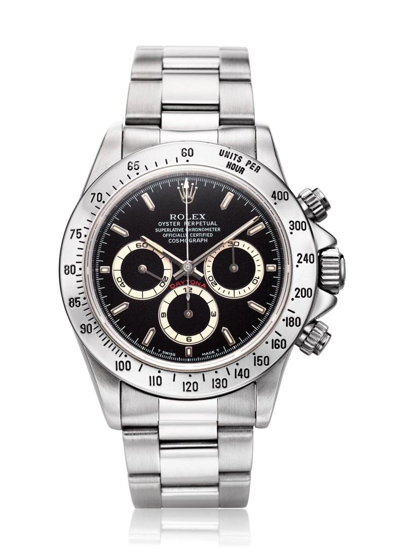"Rolex Daytona, ""Zenith"", ref. 16520, w-serial no. Diameter: 39mm. Estimate: $20,000-40,000. Offered in Watches Online, 25 February to 10 March 2020, Online"