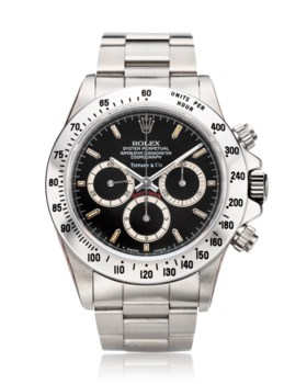 ROLEX, A VERY RARE STAINLESS STEEL AUTOMATIC CHRONOGRAPH WRI