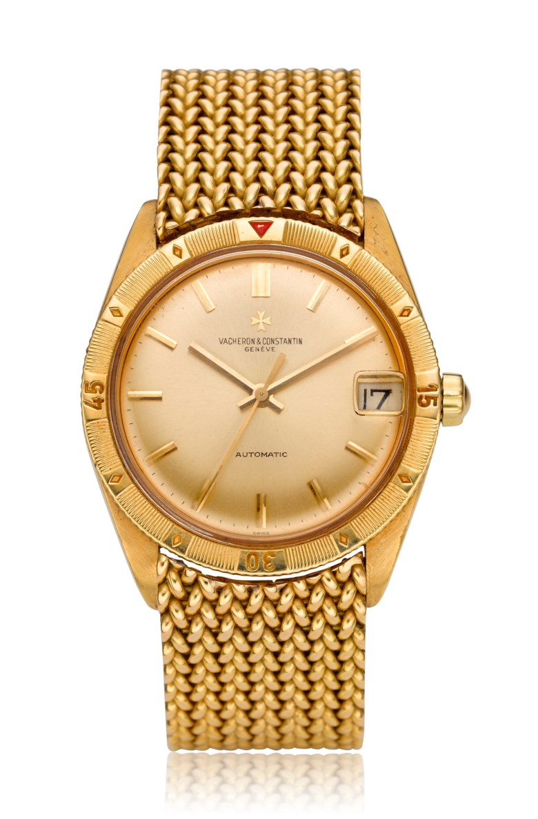 "Vacheron & Constantin, ""Turnograph"", 18k gold, ref. 6782. Diameter: 36mm. Estimate: $12,000-18,000. Offered in Watches Online, 25 February to 10 March 2020, Online"