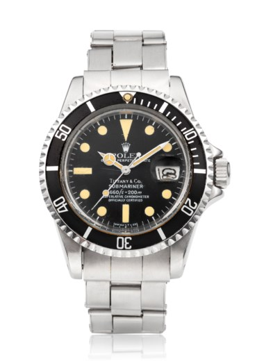 Rolex, Submariner, ref. 1680. Bracelet size 6 in  152.4 mm. Estimate $15,000-25,000. Offered in Watches Online The Collector's Edition, 22 July to 5 August 2020, Online