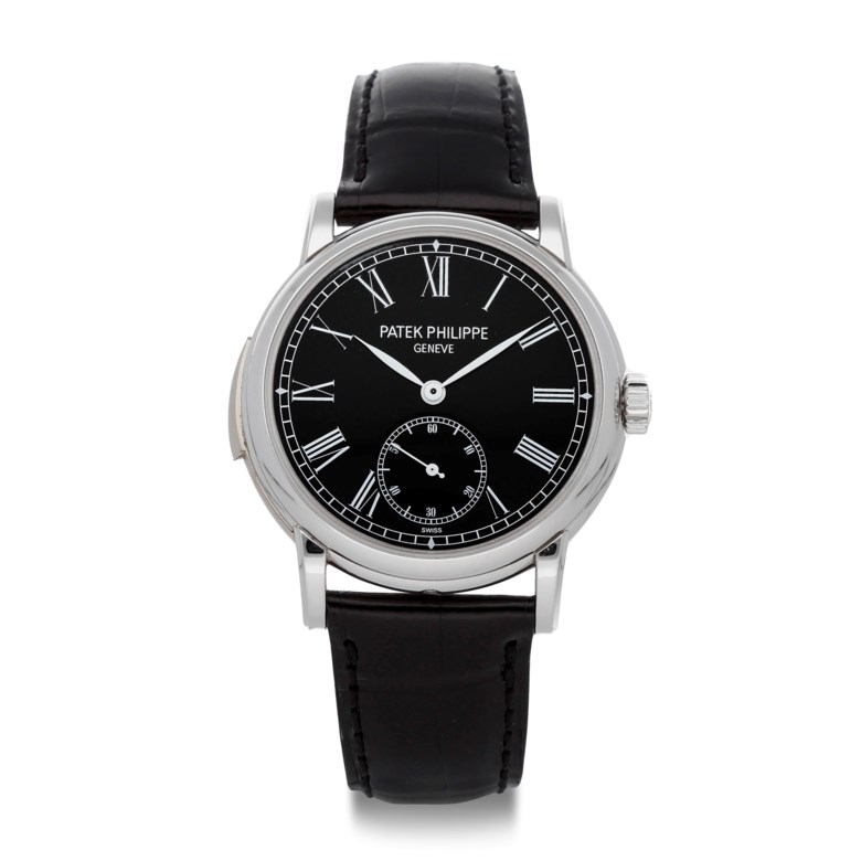 Patek Philippe, Minute Repeater, platinum. Case diameter 38mm. Estimate $225,000-255,000. Offered in  Watches Online The Essential Collection, 16 June to 1 July 2020, Online
