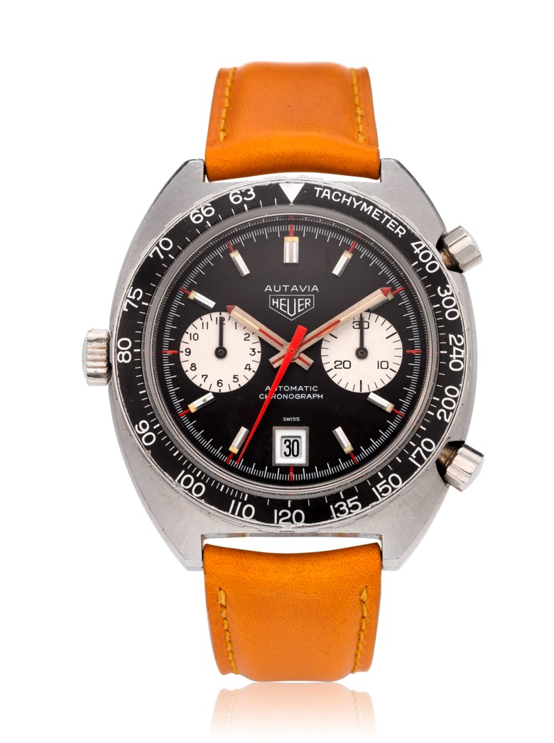 Heuer, Autavia 'Viceroy', chronograph wristwatch, ref. 1163 v. Estimate $3,500-6,500. Offered in Watches Online Discovering Time, 1-13 October 2020, Online