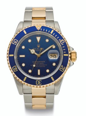 ROLEX, 18K GOLD AND STEEL, SUBMARINER, REF 16613