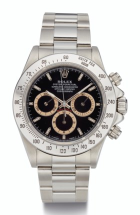 ROLEX, STEEL CHRONOGRAPH, REF 16520 WITH TROPICAL CHAPTER RI