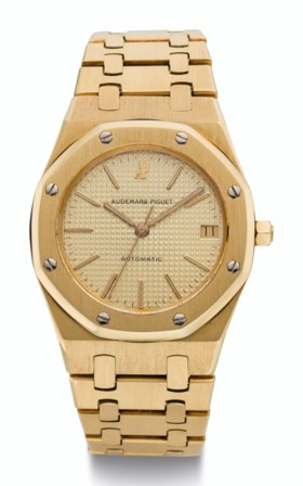 AUDEMARS PIGUET, 18K GOLD, ROYAL OAK, REF 4100BA