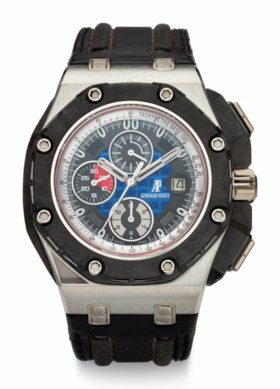 AUDEMARS PIGUET, PLATINUM & CARBON, CHRONOGRAPH, ROYAL OAK O