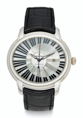AUDEMARS PIGUET, 18K WHITE GOLD, MOTHER-OF-PEARL, MILLENARY